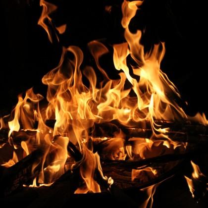 Burning, close-up photo