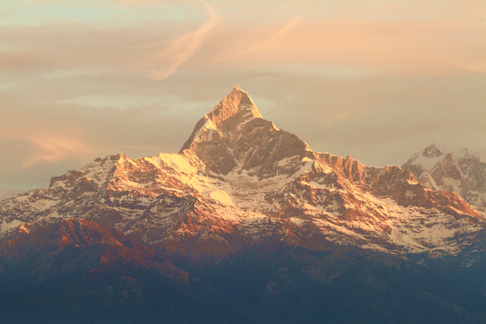 Nepal Pokhara, Fishtail peak