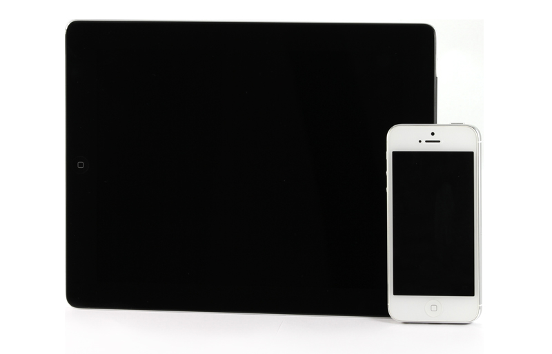 Tablet and Smart Phone on White background