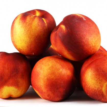 A group of colorful nectarine fruits