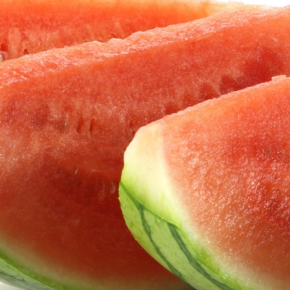 watermelon slice closeup
