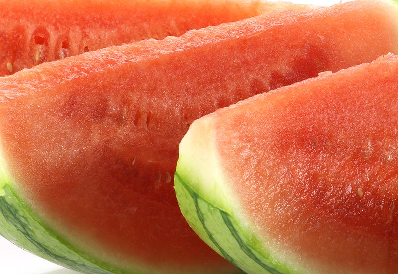 watermelon slice closeup