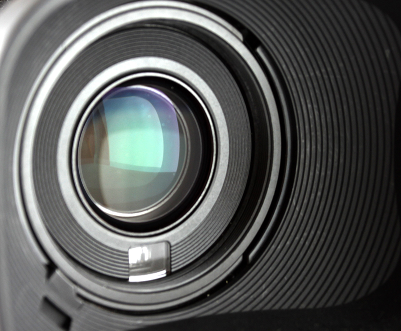 professional high definition camcorder in close up, selective