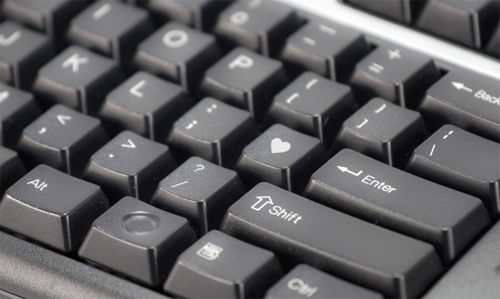 Keyboard with Love sign