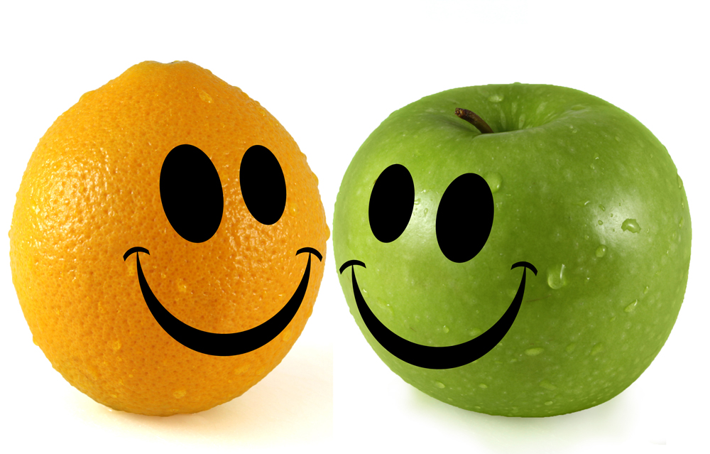 Happy Apple and Orange