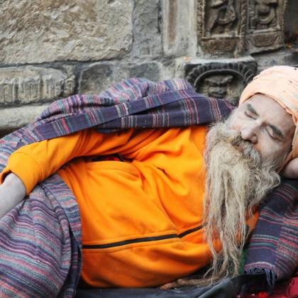A sadhu at Pashupatinath Temple