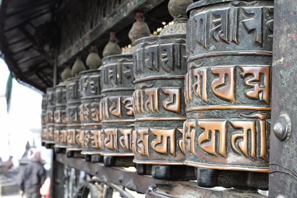 prayer wheel, swayambhu, Nepal