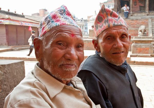 Old Men Posing – Patan Nepal