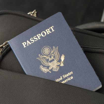 passport and a luggage