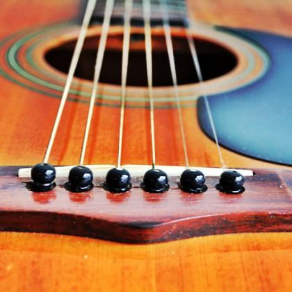 Acoustic guitar closeup