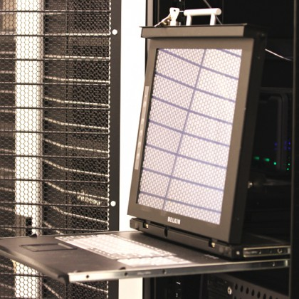 network server room with computers for digital tv ip