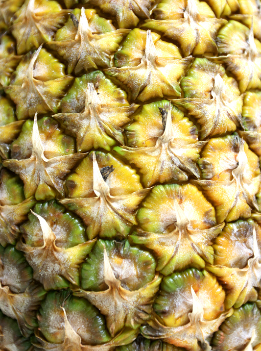 Close-up of sweet pineapple