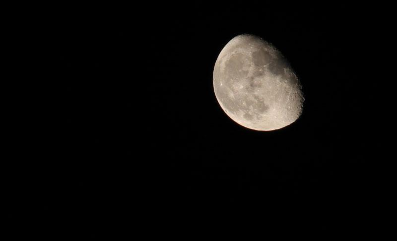 Closeup of moon