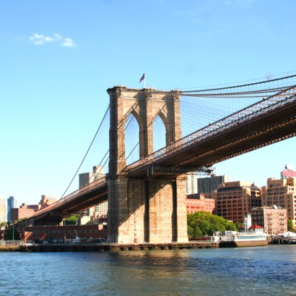 Brooklyn Bridge over East River