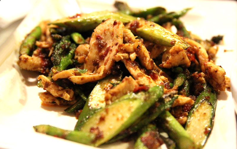 Stir fry of chicken