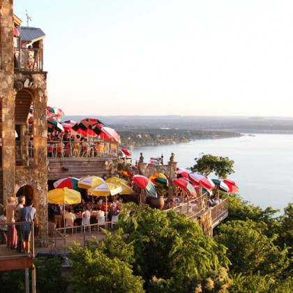 The Oasis on Lake Travis, popular restaurant at Austin, Texas