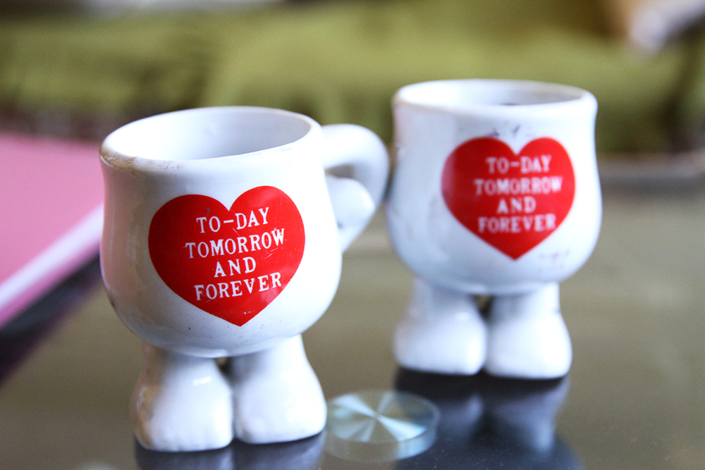Cup of love with words