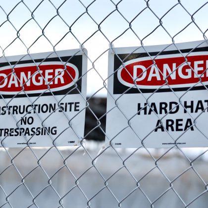 Construction site board