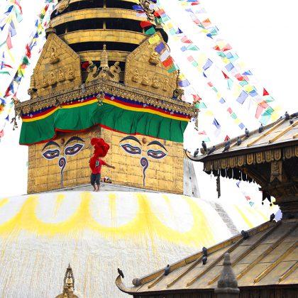Swayambhunath Stupa (Monkey Temple) in Kathmandu Nepal
